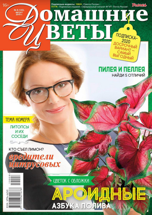 Домашние цветы №8, август 2019