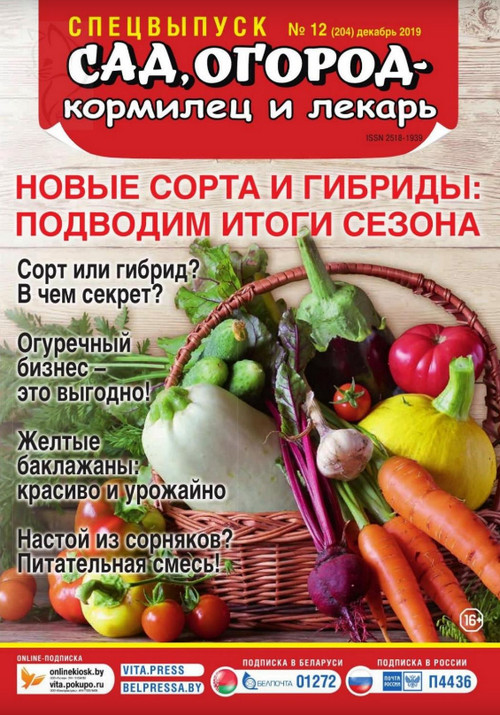 Сад огород кормилец и лекарь. Спецвыпуск №12 (декабрь/2019)