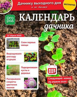 Календарь дачника №8 (апрель/2020)