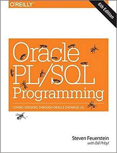 Oracle PL /SQL Programming