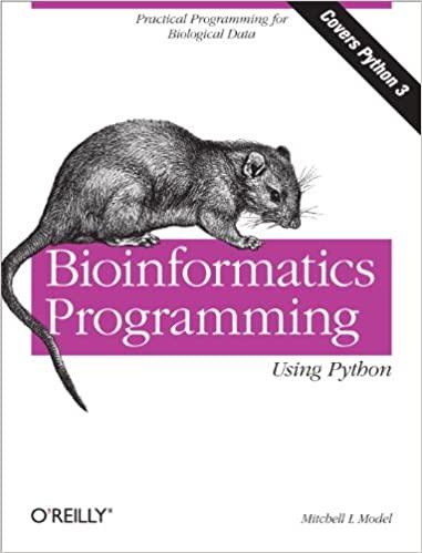 Bioinformatics Programming Using Python: Practical Programming for Biological Data