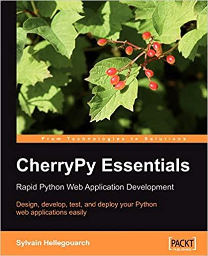CherryPy Essentials: Rapid Python Web Application Development by Sylvain Hellegouarch