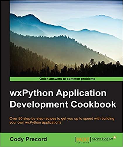 wxPython Application Development Cookbook by Cody Precord