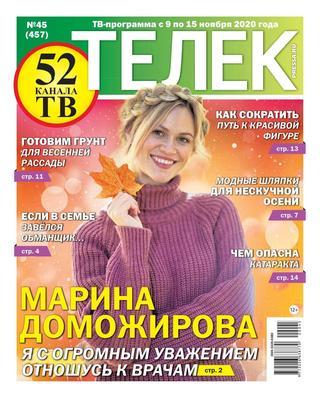 Читать журнал Телек №45, ноябрь 2020
