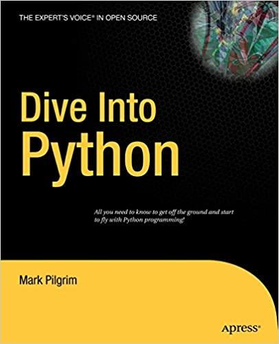 Dive Into Python Paperback, 2004 by Mark Pilgrim