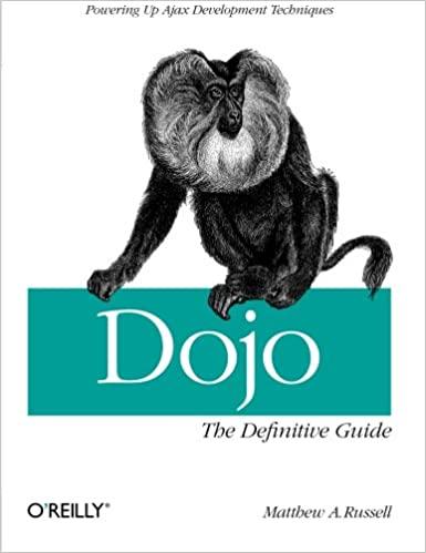 Dojo: The Definitive Guide by Matthew A. Russell