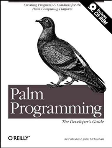 Palm Programming: The Developer's Guide by Neil Rhodes, Julie McKeehan