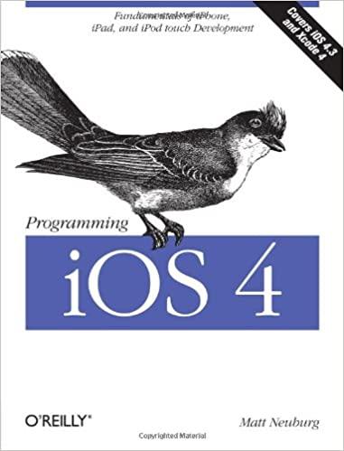 Programming iOS 4: Fundamentals of iPhone, iPad, and iPod Touch Development by Matt Neuburg