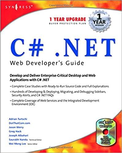 C#.net Web Developer's Guide by Saurabh Nandu