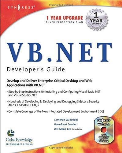 VB.Net Web Developer's Guide by Syngress