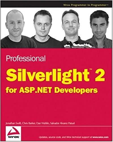 Professional Silverlight 2 for ASP.NET Developers by Jonathan Swift, Salvador Alvarez Patuel, Chris Barker, Dan Wahlin