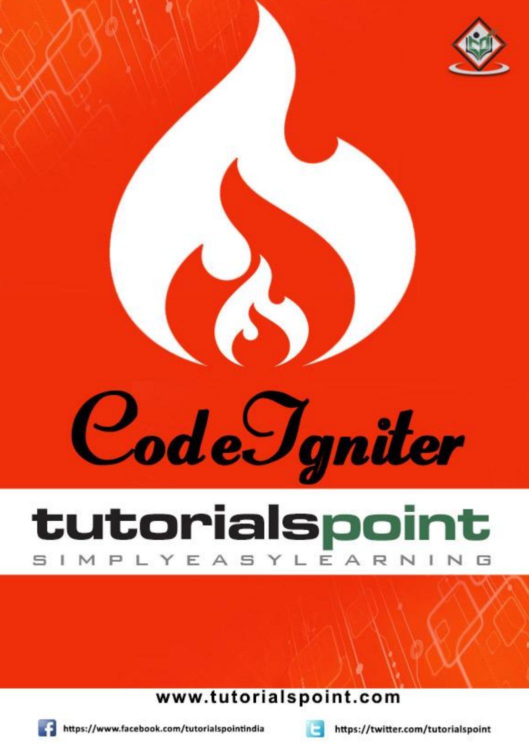 CodeIhniter by Tutorials Point