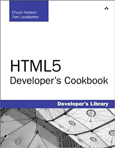 HTML5 Developer's Cookbook by Chuck Hudson, Tom Leadbetter