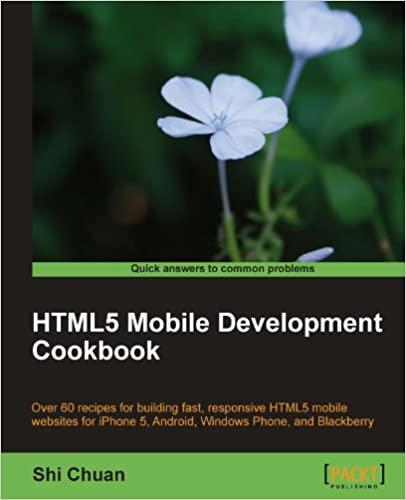HTML5 Mobile Development Cookbook by Shi Chuan