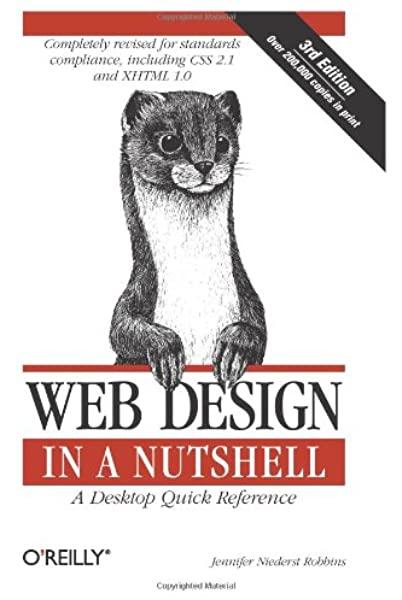 Web Design in a Nutshell: A Desktop Quick Reference by Jennifer Niederst
